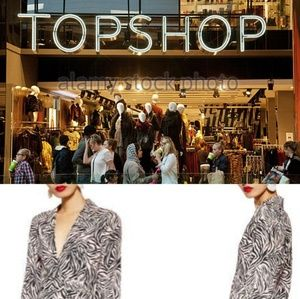 NEW TOPSHOP  Zebra Print Dress